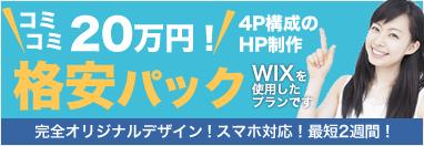 格安パック4ページ20万円